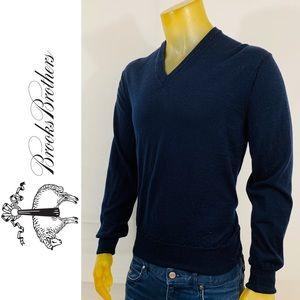 Brooks Brothers Tech-Marino Wool V-Neck Sweater